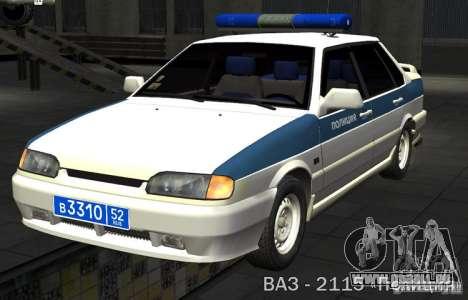 VAZ-2115-PPP-Polizei für GTA San Andreas