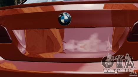 BMW M3 GTS 2010 pour GTA 4 vue de dessus