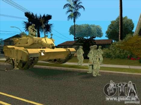 Électronique camouflage Morpeh pour GTA San Andreas troisième écran