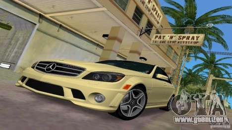 Mercedes-Benz C63 AMG 2010 pour GTA Vice City vue latérale
