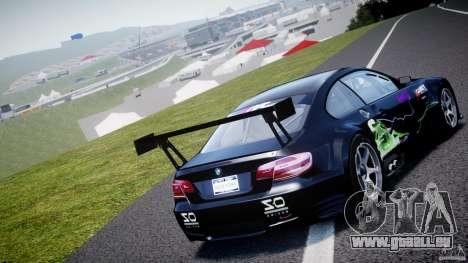 BMW M3 GT2 Drift Style pour GTA 4 Vue arrière de la gauche