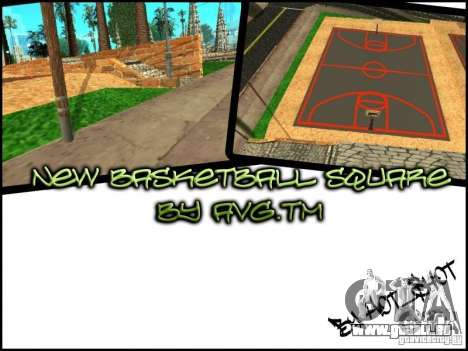 Dem neuen Basketballplatz für GTA San Andreas