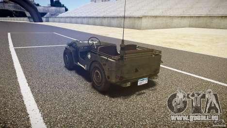 Walter Military (Willys MB 44) v1.0 pour GTA 4 Vue arrière de la gauche