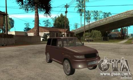 UAZ Patriot pour GTA San Andreas vue intérieure
