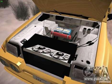 Renault 5 Turbo pour GTA San Andreas vue intérieure