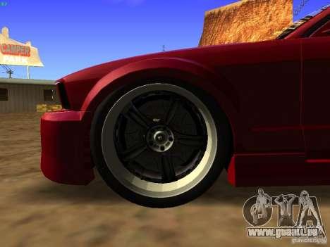 Ford Mustang GT 2005 Tuned für GTA San Andreas Rückansicht