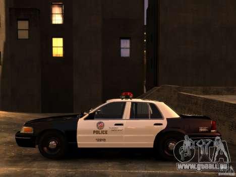 Ford Crown Victoria LAPD v1.1 [ELS] für GTA 4 rechte Ansicht