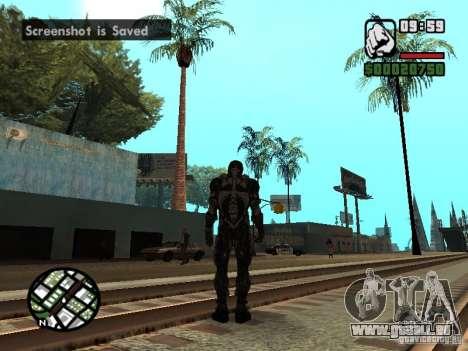 Crysis Nano Suit pour GTA San Andreas cinquième écran