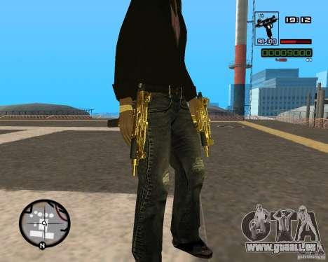 Micro Uzi Gold pour GTA San Andreas deuxième écran
