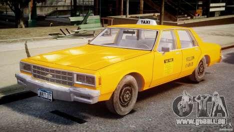 Chevrolet Impala Taxi v2.0 für GTA 4 linke Ansicht