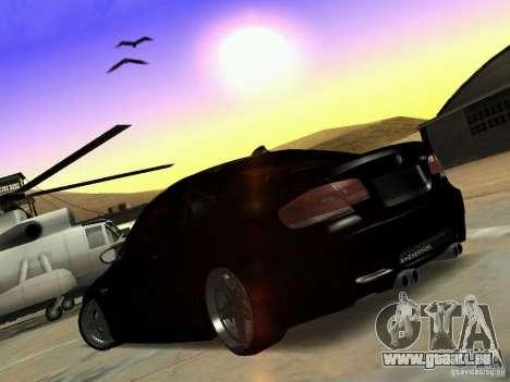 BMW M3 E92 Drift pour GTA San Andreas vue de droite