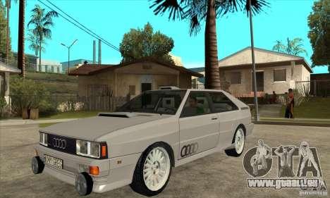 Audi Quattro pour GTA San Andreas sur la vue arrière gauche