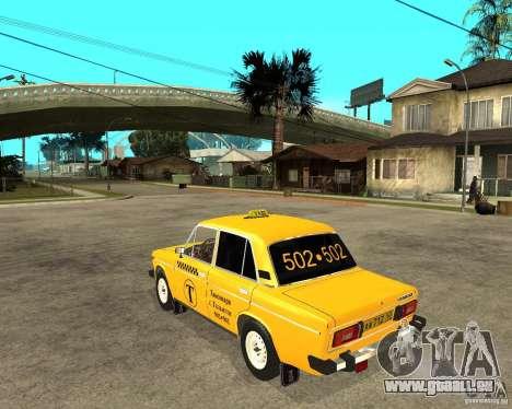 VAZ 2106 Taxi pour GTA San Andreas laissé vue