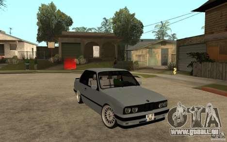 BMW E30 CebeL Tuning pour GTA San Andreas vue arrière