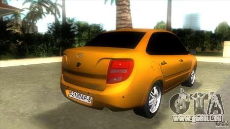 Lada Granta pour GTA Vice City sur la vue arrière gauche