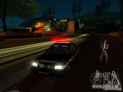 Ford Crown Victoria Erie County Sheriffs Office pour GTA San Andreas vue de dessous