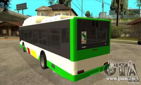 Mercedes Benz MAN Lions City CNG pour GTA San Andreas sur la vue arrière gauche