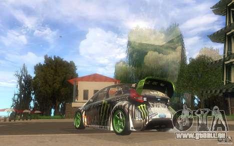 Ford Fiesta Gymkhana pour GTA San Andreas sur la vue arrière gauche