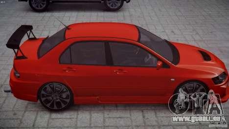 Mitsubishi Lancer Evolution 8 v2.0 pour GTA 4 Vue arrière