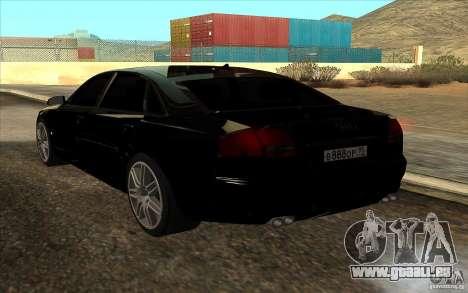 Audi A8l W12 6.0 pour GTA San Andreas laissé vue