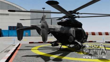 Hélicoptère C.E.L.L. pour GTA 4 Vue arrière de la gauche