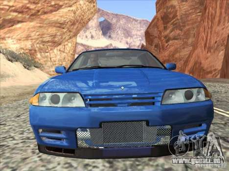 Nissan Skyline GT-R 32 1993 für GTA San Andreas zurück linke Ansicht