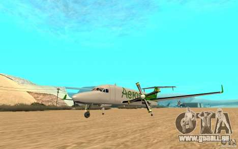 Beechcraft B1900D für GTA San Andreas rechten Ansicht