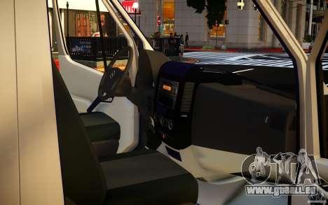Mercedes-Benz Sprinter Passenger pour GTA 4 est une vue de dessous