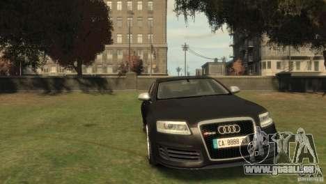 Audi RS6 v.1.1 für GTA 4 Rückansicht
