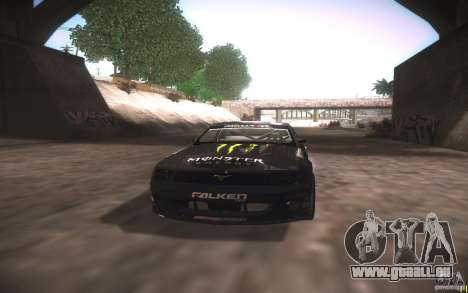 Ford Mustang Monster Energy pour GTA San Andreas vue intérieure