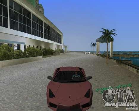 Lamborghini Reventon pour GTA Vice City sur la vue arrière gauche
