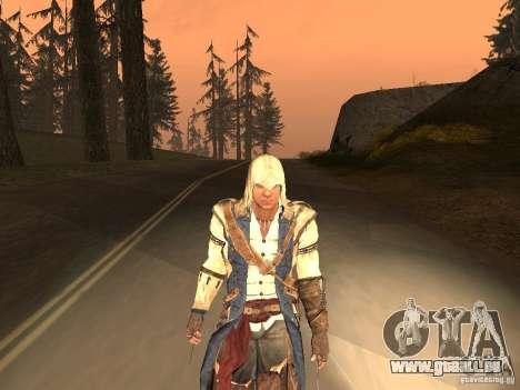 Connor From ACIII für GTA San Andreas sechsten Screenshot
