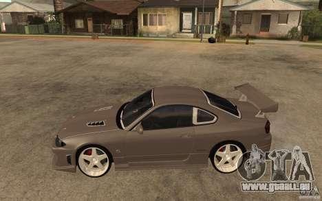 Nissan Silvia S15 JC2 Tuning pour GTA San Andreas laissé vue