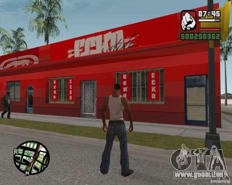 Boutique Ecko pour GTA San Andreas