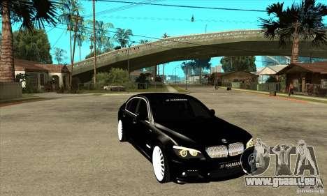BMW 7-er F02 HAMANN 2010 pour GTA San Andreas vue arrière