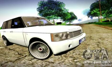Range Rover Supercharged für GTA San Andreas obere Ansicht