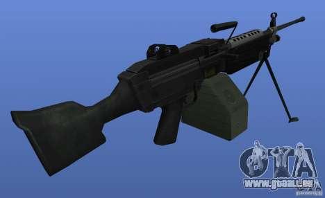 Mitrailleuse M249SAW pour GTA 4 troisième écran