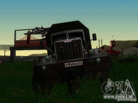 KrAZ-254 für GTA San Andreas Seitenansicht