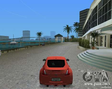 Nissan 370Z pour GTA Vice City sur la vue arrière gauche