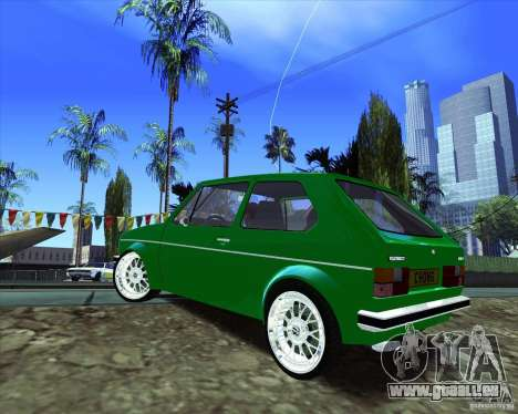 Volkswagen Golf MK 1 pour GTA San Andreas sur la vue arrière gauche