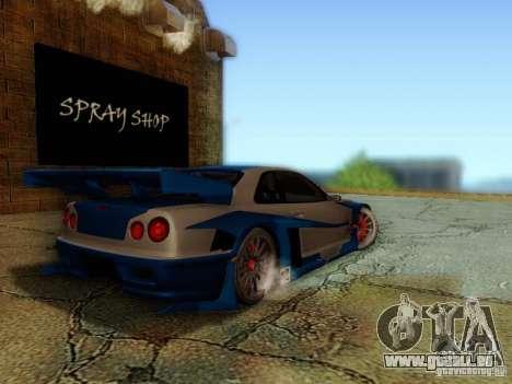 Nissan Skyline GTR34 DTM pour GTA San Andreas laissé vue