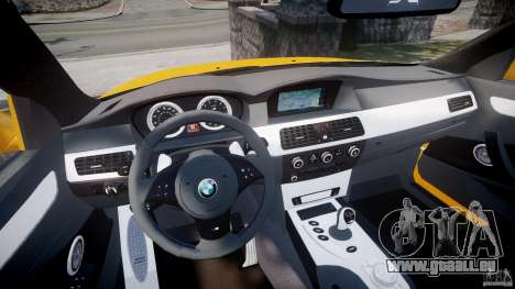BMW M5 E60 2009 für GTA 4 Rückansicht