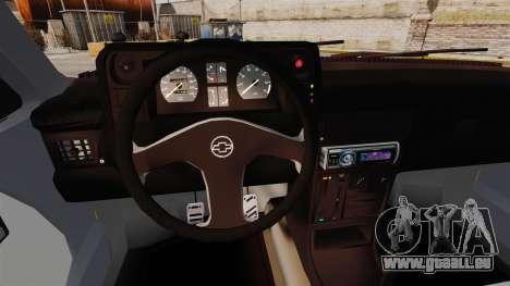 Opel Kadett GL 1.8 1996 pour GTA 4 est une vue de l'intérieur