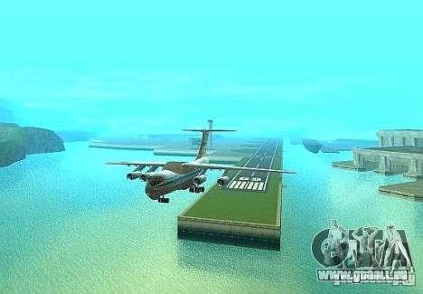 IL 76 m Aeroflot pour GTA San Andreas vue de droite