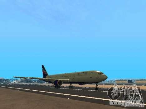 Boeing 767-300 Aeroflot pour GTA San Andreas laissé vue