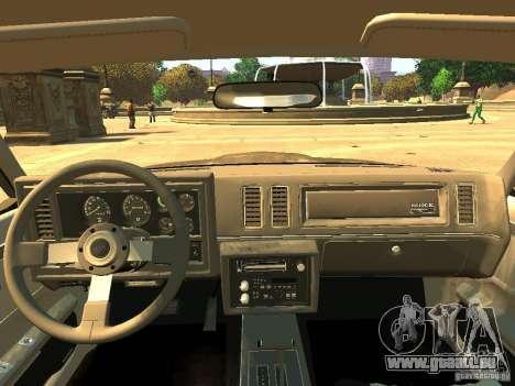 Buick Regal GNX für GTA 4 Rückansicht