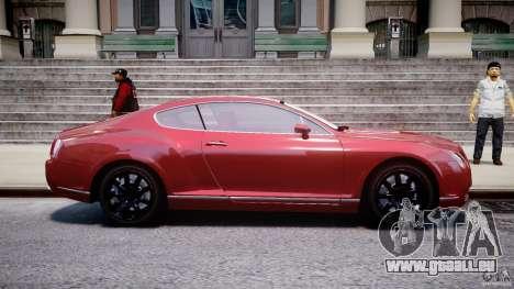 Bentley Continental GT 2004 pour GTA 4 est une vue de l'intérieur