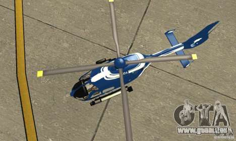 EC-135 Gendarmerie für GTA San Andreas Rückansicht