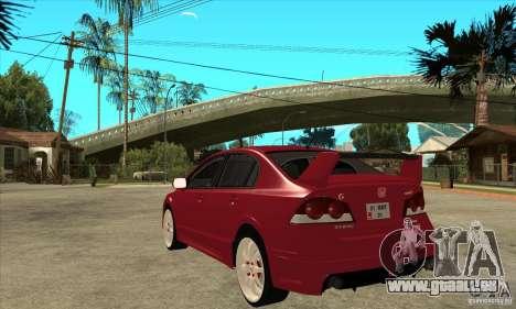 Honda Civic Mugen RR pour GTA San Andreas sur la vue arrière gauche