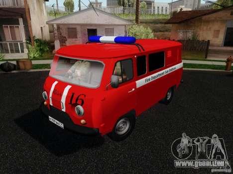 UAZ 3909 incendie pour GTA San Andreas